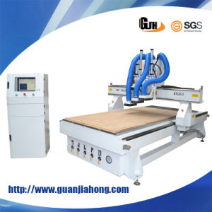 1325 Professional Three-Workstage Wood Door CNC Router Machine pictures & photos