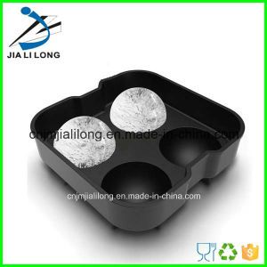 4 Holes Silicone Ice Ball Mold for Whisky