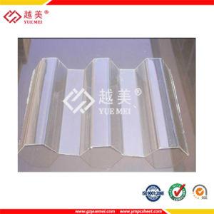 China Yuemei 1mm Transparent Polycarbonate Sheet Greca Corrugated Sheet China Plastic Sheet Polycarbonate Sheet