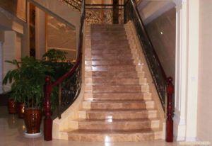Emperador, Beige Marble Staircase, Marble Stair