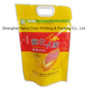 Large Plastic Compound Printing Packaging Handle Bag