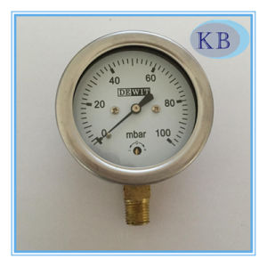 Stainless Steel Capsule Pressure Gauge Safeglass Window Dia. 63mm pictures & photos
