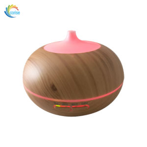 Wood Grain 300ml Home Automatically LED Light Fragrance Aroma Diffuser