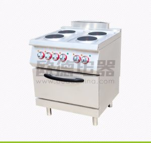 Commercial Kitchen 700# Four Burners Electric Cooking Range with Oven