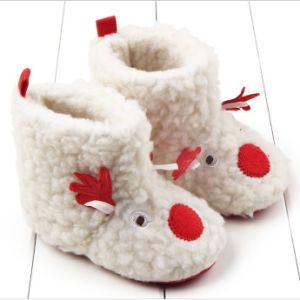 New Product Baby Christmas Elk Plush Warm Shoes