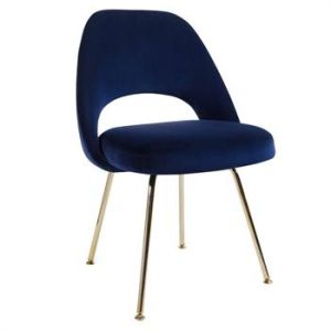 Terrific Hot Sale High Quality Eero Saarinen Velvet Dining Chair With Gold Legs Dailytribune Chair Design For Home Dailytribuneorg