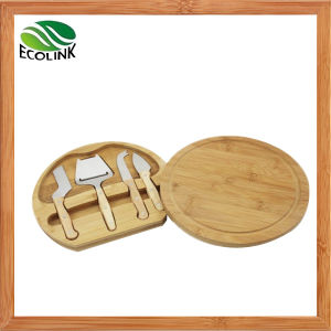 Bamboo Cheese Board with Knife Set pictures & photos