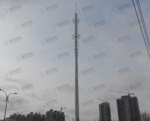 Hot-DIP Galvanized Telescopic Monopole Tower