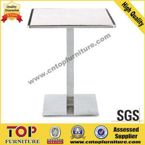Durable Square Stainless Steel Cocktail Tables pictures & photos