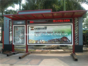 High Quality Bus Shelter for Public (HS-BS-A018) pictures & photos