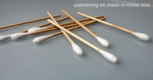 Sterile Medical Cotton Swab Stick / Wooden Stick Cotton Bud