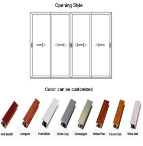 Middle East Standard Solid Wood/ Cherry Wood Aluminum Door (FT-D126) pictures & photos