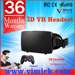 Matte Black Color Plastic Cellphone 3D Vr Virtual Reality Glasses with Magnet & Front Cover & Sponge