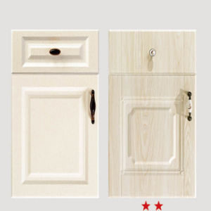 White PVC Vacuum Door for Kitchen Cabinet (FY059) pictures & photos