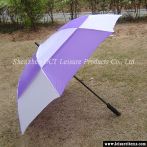 Windproof Golf Umbrella with Fiberglass Frame pictures & photos