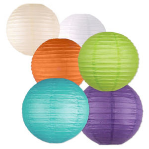 china 12 colorful paper lantern for party and home decoration