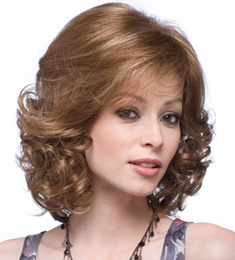 Kanekalon Fibre Short Style Curly Synthetic Hair Machine Wig
