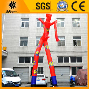 8m Two Legs Inflatable Red Sky Dancer for Advertising