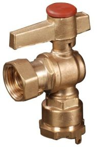 Brass Angle Lockable Ball Valve (YED-A1038)