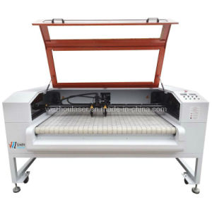 Dual Head Roll Fabric Laser Cutting Machine with Auto Feeding Device (WZ16080D-AF)