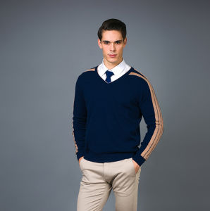 Men′s Fashion Cashmere Blend Sweater 17brpv070 pictures & photos