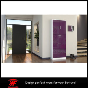 High Gloss Modern MDF Tall Mirror Shoe Cabinet