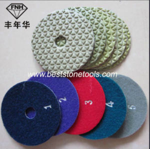 New 5 Step Dry Flexible Diamond Polishing Pad for Polishing