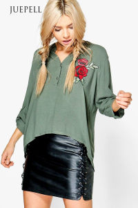Batwing Sleeve Loose Bloue with Embroidered pictures & photos