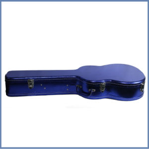 High Quality Musical Instrument Double Gitar Case, Cheap Glossy Blue Color Guitar Case Chinese Supplier pictures & photos