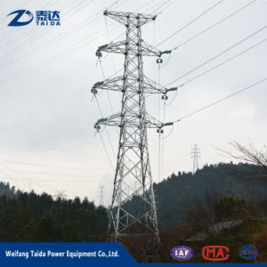 Factory Price 2 Circuits Electric Power Transmission Line Lattice Steel Tower