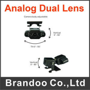 New Products Analog Dual Lens IR Car Camera for Truck Bus