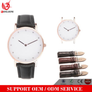 Yxl-218 Promotional Custom Diamond Watch Elegant Simple Design Colorful Nylon Strap Watch Fashion Casual Quartz Men Women Wristwatch pictures & photos