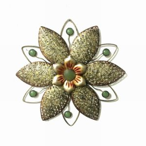 Metal Moulded Antique Flower Wall Decoration