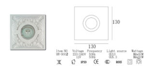 Sixu Retro Style Ceiling Plaster Spotlight Hr-9002 pictures & photos