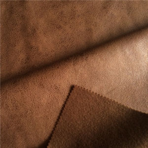 China 100 Polyester Microfiber Faux Suede Sofa Fabric Warp Knitted