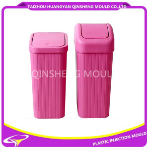 Plastic Square Swing Lid Dustbin Mould pictures & photos