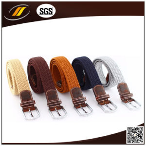 Colorful Men Pin Buckle Polyester Elastic Braid Belt (HJ5115)