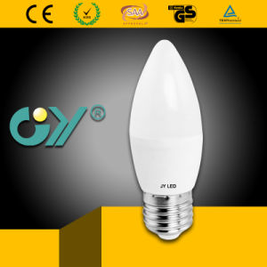 CE RoHS Approved 7W E27 E14 LED C37 LED Bulb