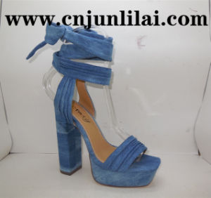 Sandals with Platform and Chunky Heel