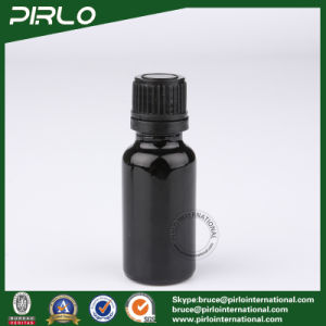 20ml Black Glass Bottles with Tamper Evident and Black Screw Cap pictures & photos