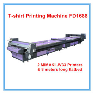 Factory Price Flatbed T-Shirt Printing Machine Fd1688 pictures & photos