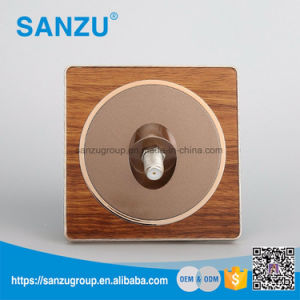 Factory Price Top Sale Satellite Wood All Types of Wall Switch pictures & photos