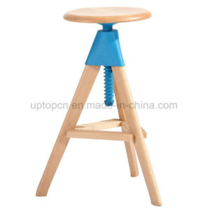 Round Soild Wood Coffee Restaurant Chair with 3 Legs (SP-EC623) pictures & photos