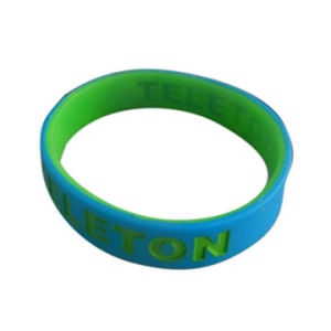 Wristband Made of 100% Silicone Band, Dual Layer pictures & photos