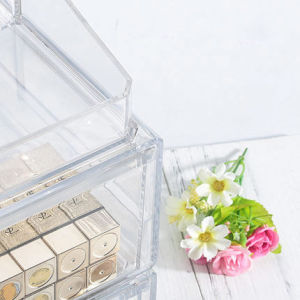 Fashion Transparent Acrylic Cosmetic Drawer Type Storage Box pictures & photos