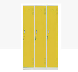 3 Doors Metal Armoire Closet