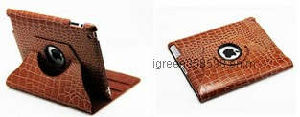 for iPad Leather Case Brown