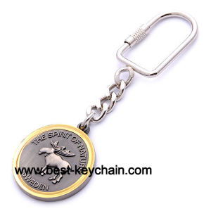 Custom Round Shape Souvenir Sweden Logo Metal Keyring (BK52236) pictures & photos