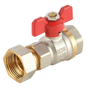 Nickel Plated Finish Ball Valve with Tailpiece