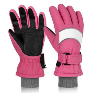 Kids Gloves Toddler Winter Snow Knit Touch Screen Girl Cold Weather Gloves